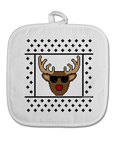 TooLoud Cool Rudolph Sweater White Fabric Pot Holder Hot