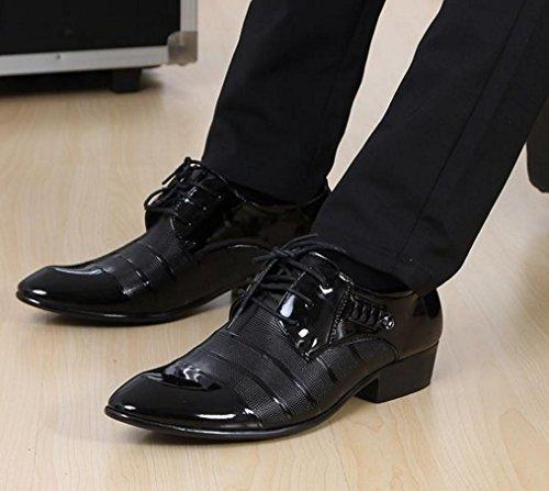 NSPX 3006 in Scarpe Da Sposa Pizzo Tatuaggio Oxford Cuoio Abbigliamento Scarpe 38 Abito 3006BLACK 41 Uomo black Scarpe Banchetto Pochette 1aqw1r