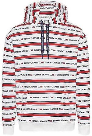 Tommy Hilfiger Jeans - Sudadera a Rayas con Capucha y Logotipos