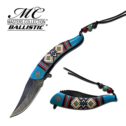 NEW! Native American Style Blue Colorful Folding Pocket ProTactical Limited Edition Elite SPRING ASSISTED knife