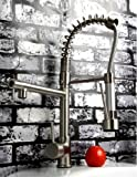 Lightinthebox Deck Mount Kitchen Sink Faucet Swivel Two Spout Tall Curve Bar Faucet Pull Down Led Sprayer Water Flow Powered No Battery Needed Nickel Brushed Finish Single Hole Mixer Taps Plumbing Fixtures Vessel Sink Faucets Unique Designer
