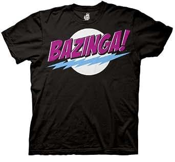 The Big Bang Theory Bazinga! Men's T-shirt (Small, Cosmic Black)