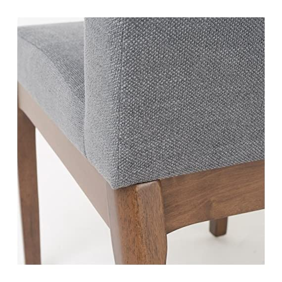 Christopher Knight Home Kwame Fabric / Walnut Finish Dining Chairs, 2-Pcs Set, Dark Grey - Enjoy these fabric dining chairs in your dining room. With a gorgeous Finish on the legs, and a squared off design, these dining chairs are sure to PLEASE. Not only will you be dining in comfort, but you don't have the added Bulk of many large dining chairs, allowing you to dine in both style and ease! Material: fabric Leg material: solid rubber wood Assembly required - kitchen-dining-room-furniture, kitchen-dining-room, kitchen-dining-room-chairs - 511mKdeF72L. SS570  -