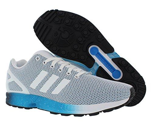 Adidas Zx Flux Falme Herresko Størrelse Hvid / Tunge Blå / Mørk Blå ifRv8dU