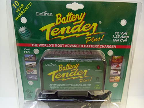 Battery Tender Battery Charger, 12VDC, 1.25A