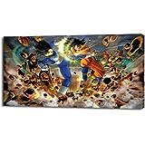 DRAGON BALL Z PRINT ON CANVAS Home Wall Decor Art Giclee Goku Vegeta P029, Regular