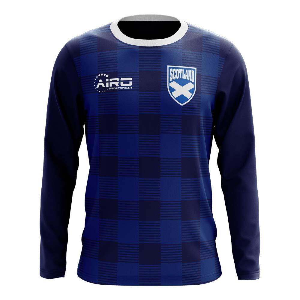 Airo Sportswear 2018-2019 Scotland Long Sleeve Tartan Concept Football Soccer T-Shirt Trikot