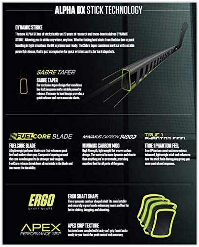 Warrior Alpha DX Pro Team Composite Schl/äger Senior Flex 75 63