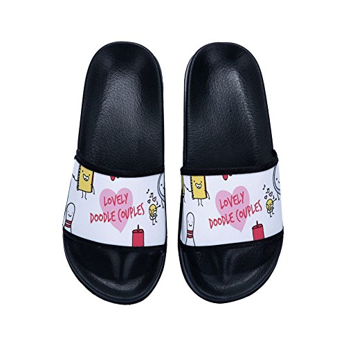 Quick Buteri Womens Slippers Lovely Slip for Couples Non Doodle Drying Black Slippers 4qqAwYx17