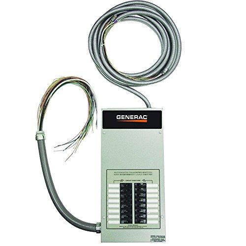 Switches Generac Transfer (Generac RTG16EZA1 Automatic Transfer Switch 16-Circuit 100-Amp Load Center, Rated NEMA 1 CUL)