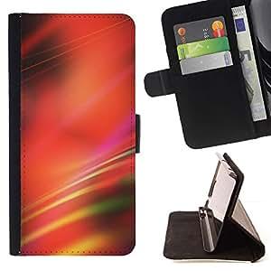 For HTC Desire 626 626w 626d 626g 626G dual sim Case , Borrosa Rojo Líneas Negro abstracto- la tarjeta de Crédito Slots PU Funda de cuero Monedero caso cubierta de piel