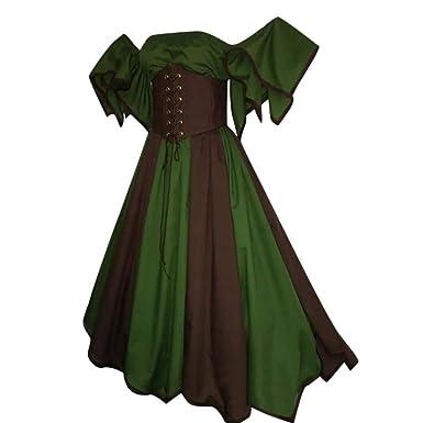 345e644daf9 Amazon.com  GIANTHONG Womens Renaissance Medieval Costume Dress Gothic  Victorian Fancy Dresses Princess Costume for Women  Clothing