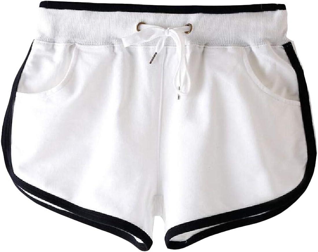 Hajotrawa Childrens Active Running Pull On Waist Drawstring Elastic Waist Shorts