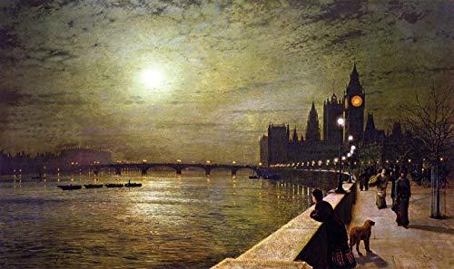 - John Atkinson Grimshaw Reflections on The Thames 1880 Leeds Art Gallery 30