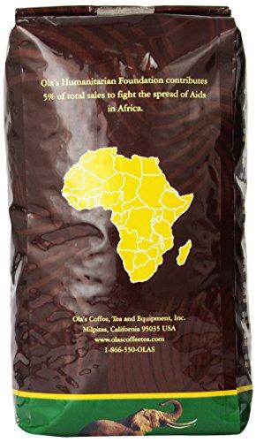 Ola's Exotic Super Premium Coffee Organic Uganda Bugisu AA Whole Bean Coffee, 32-Ounce Bag