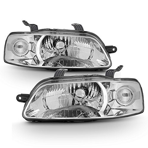 ACANII - For 2004-2007 Chevy Aveo 06-08 Aveo5 Hatchback Headlights Headlamps Head Lights Replacement Driver + Passenger