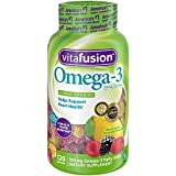 gummy vitamins with omega 3 - Vitafusion Omega-3 Gummies, 120 Count (Packaging May Vary)