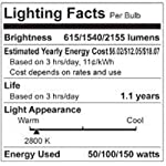 GE Lighting 50/100/150-Watt, 3-Way Light Bulb, Soft White, 4-Pack 97494