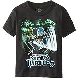 Teenage Mutant Ninja Turtles Little Boys' Group Action T-Shirt Shirt, Black, 5/6