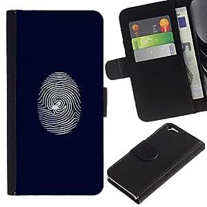KLONGSHOP // Tirón de la caja Cartera de cuero con ranuras para tarjetas - Telaraña de huellas dactilares - Apple Iphone 6 //