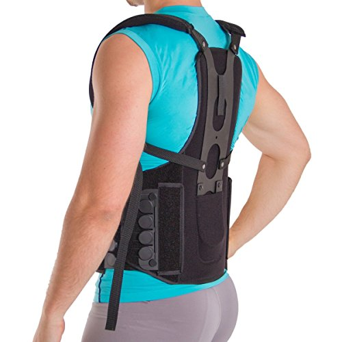 Postural Extension Back Straightener Brace for Kyphosis, Mild Scoliosis, Hunchback & Lordosis Treatment - S/M by Cybertech Medical