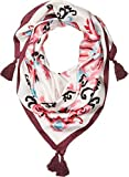 Kate Spade New York Women's Tapestry Silk Square Scarf Cream One Size
