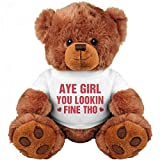 Aye Girl Gangsta Valentine Bear: Medium Teddy Bear Stuffed Animal
