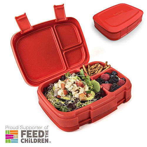 Bentgo Fresh (Red) – Leak-Proof & Versatile 4-Compartment Bento-Style Lunch Box – Ideal for Portion-Control and Balanced Eating On-the-Go – BPA-Free and Food-Safe (Red Bento Box)