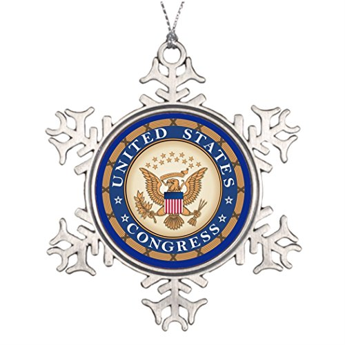 Congress Pendant (Ai Vion Personalised Christmas Tree Decoration United States Congress Beautiful Christmas Tree Decorations)