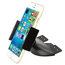 Smartphone CD Mount - iKross Universal In-Car CD Slot Mount Cradle Holder For iPhone, Smartphone with 360 Rotation For iPhone 6, 6S, SE, Samsung Galaxy 6S, Galaxy S7, S7 Edge, J3, J7, J5, LG G5, G4, HTC 10 and more - Black