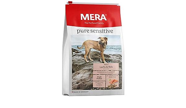 Unbekannt Mera Pure Sensitive Adult - Pienso de salmón y arroz para Perros, para la Dieta Diaria de Perros con alergias alimenticias