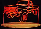 1985 Chevy Pickup Truck 3/4 Ton Acrylic Lighted Edge Lit LED 13'' Sign Light Up Plaque 85 VVD1 Full Size USA Original