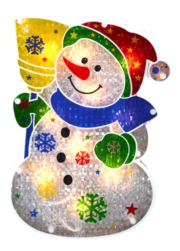 Attractive Amazon.com: Sienna Lighted Holographic Snowman Christmas Window  OG99