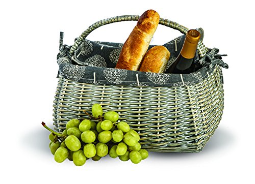 Picnic Plus Napa Basket for Wine Cheese and Picnics, 14