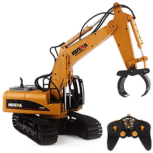 1:14 RC Remote 2.4Ghz Alloy 16 Channel Crawler Full-Function Fork Excavator, Radio Remote Simulation Mine Control Construction Fork Tractor R/C RTR Toys Gift Birthday Christmas for Boys 6-15 Year Old ()