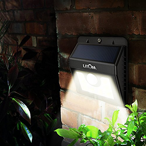 Litom Solar Lights Outdoor Motion Sensor Light Wireless