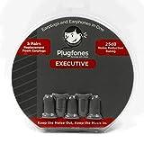 (US) Plugfones Foam Replacement Ear Plugs - 5 Pairs (Gray)