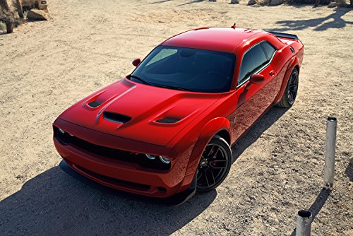 Dodge Challenger R/T Scat Pack Widebody  Car Print on 10 Mil