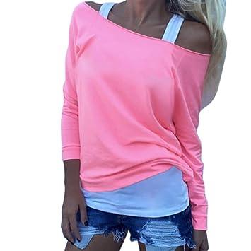 Susen Ropa Mujer Camiseta Mujer Manga Corta Talla Grande Blusa Suelto Cuello En V Dobladillo Irregular