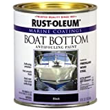 Rust-Oleum 207012 Marine Flat Boat Bottom Antifouling Paint, 1-Quart, Black