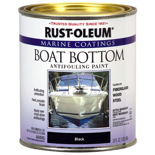 Rust-Oleum Not Available 207012 Marine Flat Boat Bottom Antifouling Paint, 1-Quart, Black