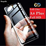 ShopalfaTM Samsung Galaxy A8 Plus Tempered Glass Full Glue 5D Tempered Glass for Samsung Galaxy A8 Plus (2018) 9H Samsung Galaxy A8 Plus 5D Tempered Glass with Free Installatio Kit Black Color