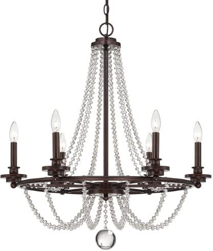 Savoy House 1-8351-6-121 Byanca 6 Light Chandelier in Mohican Bronze
