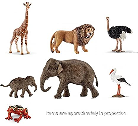 Amazon Com New African Wildlife Schleich Set Of Seven Quality