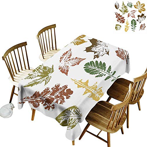 kangkaishi Leaf Washable Long Tablecloth Dinner Picnic