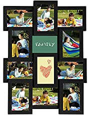 SONGMICS Collage Picture Frames for 12 Photos, 4 x 6 Inches, Assembly Required, Black URPF26BK