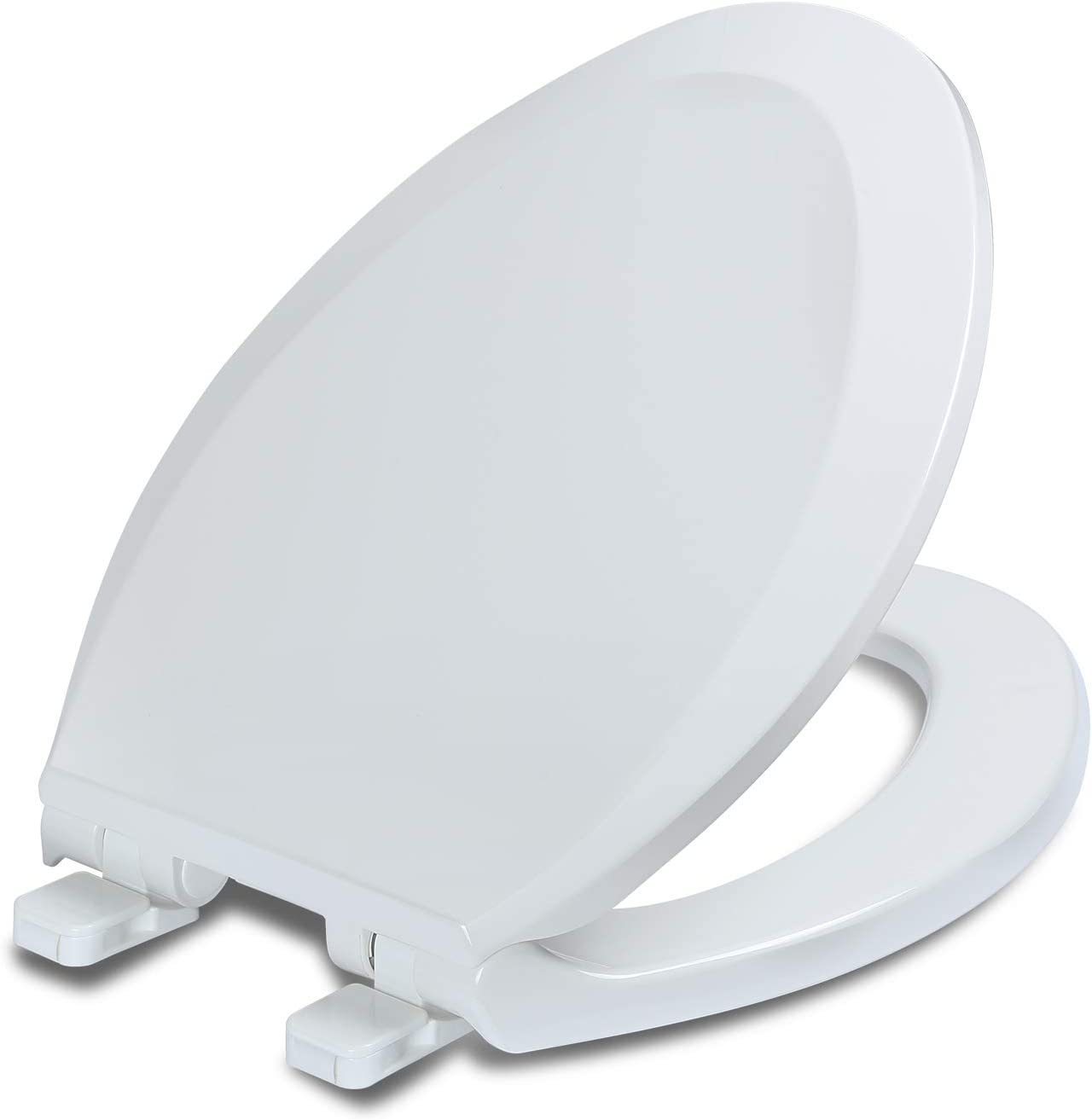 Elongated Toilet Seat with Lid, Quiet Close, Fits Standard