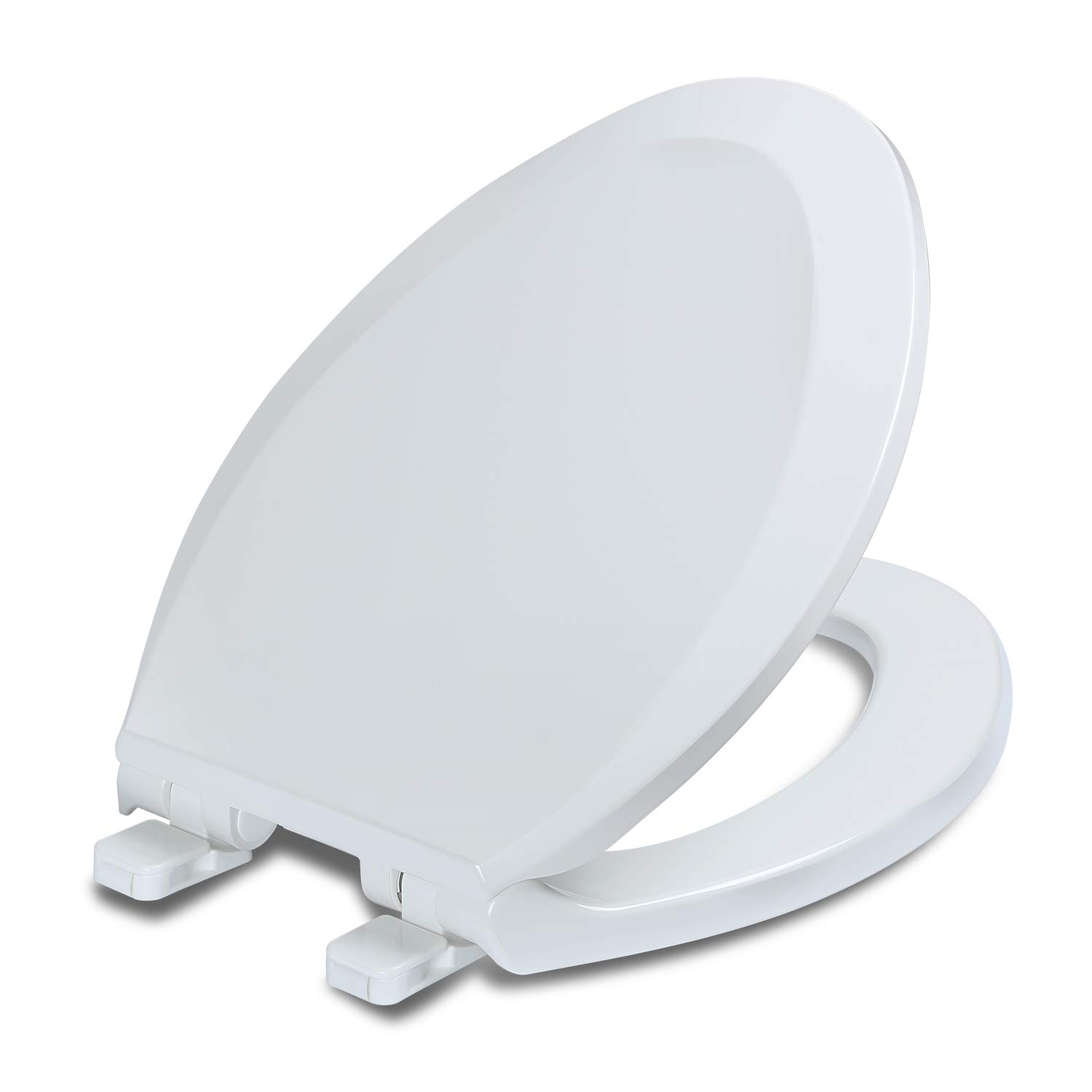 Miraculous Elongated Toilet Seats With Lid Quiet Close Fits Standard Elongated Or Oblong Toilets Slow Close Seat And Cover Oval White Andrewgaddart Wooden Chair Designs For Living Room Andrewgaddartcom