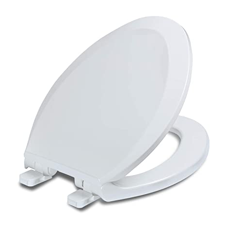 Fantastic Elongated Toilet Seats With Lid Quiet Close Fits Standard Elongated Or Oblong Toilets Slow Close Seat And Cover Oval White Dailytribune Chair Design For Home Dailytribuneorg