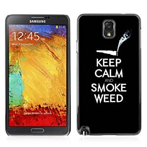 Designer Depo Hard Protection Case for Samsung Galaxy Note 3 N9000 / Keel Calm & Smoke Weed 420